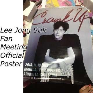 Lee Jong Suk Official Poster Crank Up Fanmeet