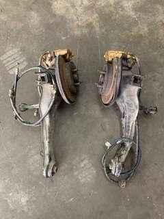 Disc brake 1 set + cable hand brake + tulang anjing + lower arm for Proton Waja/Wira (belakang)