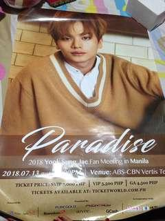 Yook Sung Jae Official Poster for Fanmeet