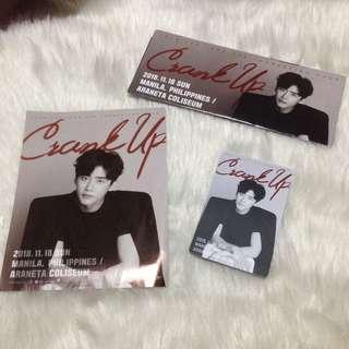 Lee Jong Suk Crank Up Souvenir Ticket Card