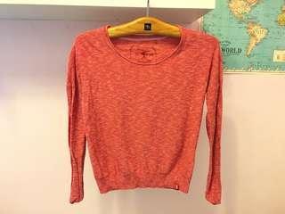 Esprit 專櫃品牌 紅色衣服長袖 長袖針織 薄針織長袖