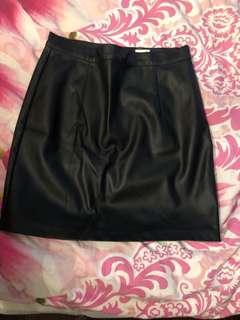 GARAGE leather skirt