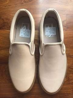 Vans veggie tan leather slip on