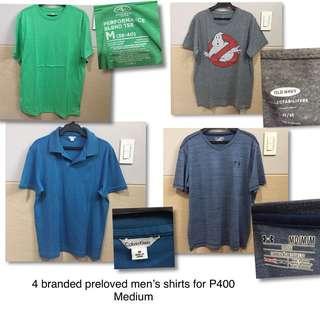 Branded preloved shirts