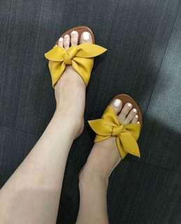 Yellow Bow Sandals (used once)