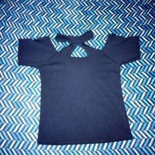 Blue Choker Top