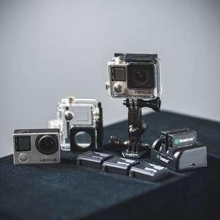 GoPro Hero 4 Action Cam - 2-set Bundle