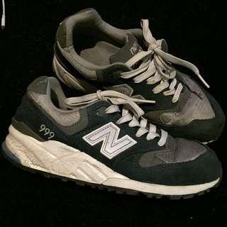 Sepatu NEW BALANCE 999 Navy grey suede classic original