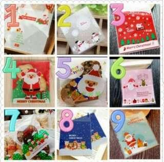 20 pcs🎄10x10cm Christmas Cookie Bag / Goodies Bag