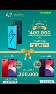 Dp mulai 499k Promo akhir tahun kredit oppo dp 20%