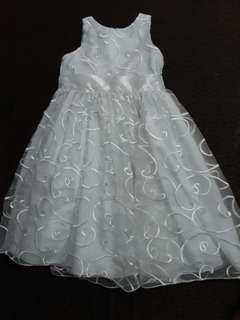 Kids White dress/ gown