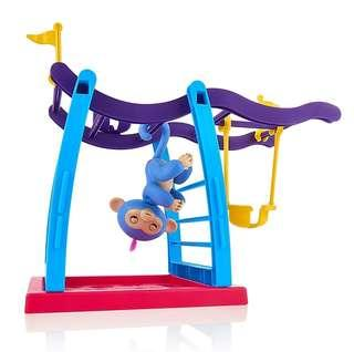 *In Stock* BN Fingerlings Interactive Baby Monkey Pet Playset Toys Small Monkey Bar + Blue Liv