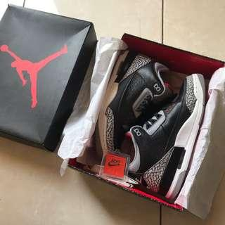 Air Jordan 3 OG Cement Fullset with OG box 2nd Mulus