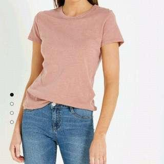cotton on dusty pink t shirt