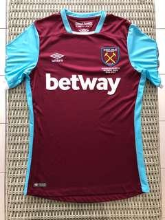 Umbro💯% Authentic West Ham United home jersey for SGD$27 (size GB S, US S, Asia M, EU S)