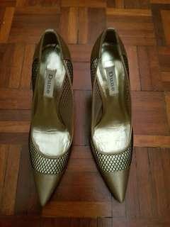 Dune Mesh Satin Court Shoes