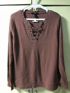 F21 Knit Sweater in Old Rose