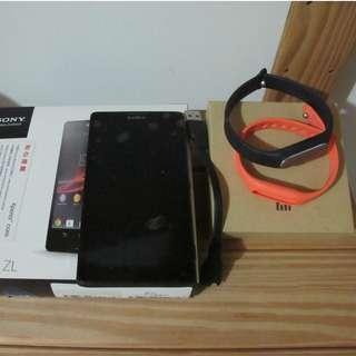 Sony Xperia ZL 黑 零件機 送小米手環 (光感版) 價錢可議