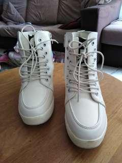 White High Cut Sneakers