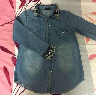 Pre❤️ Lace Jeans / Denim Shirt Tops