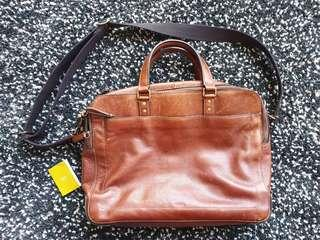 FOSSIL Leather Messenger Bag