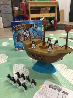 🚚 企鵝平衡海盜船桌遊