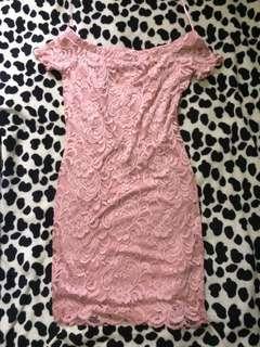 PINK DRESS (OFF SHOULDERS)