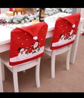 Xmas chair covers (snowman with santa design)