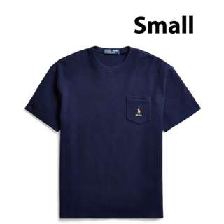 32b7b012 Palace x Ralph Lauren Waffle Pocket Tee French Navy (Small)