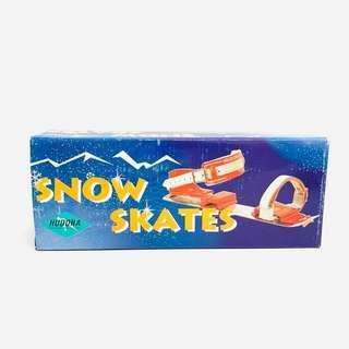 [經典罕見] 兒時 古舊 金屬鐵玩具 滑雪鞋 雪屐 收藏 vintage toy kids collectable snow skate ski