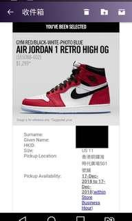 Nike Air Jordan 1 Retro High OG US11