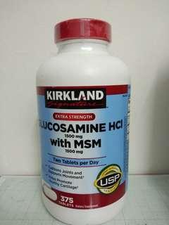 Kirkland Glucosamine HCI with MSM 1500mg