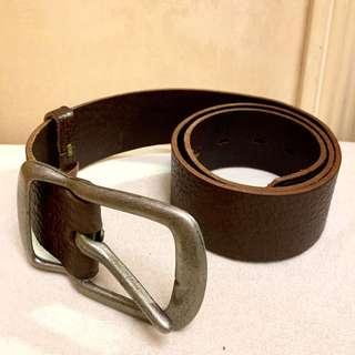 Dark Brown Leather Belt 真皮皮帶