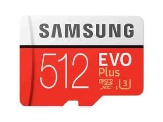 Samsung MicroSDXC EVO Plus Memory Card w/Adapter (512GB)