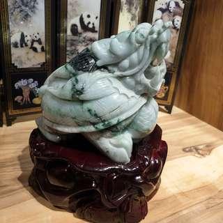 翡翠A货-中型龙龟