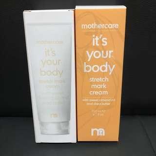Mothercare 英國製造 It's Your Body 妊娠撫紋乳霜 Stretch Mark Cream 200ml