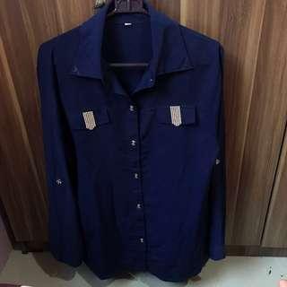 Navy Blink Long Sleeve Shirt