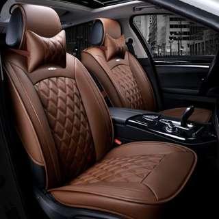 Nissan ELGRAND 七人車全套椅墊/椅套 啡色