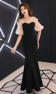 Black Gown (Very good material) Prom