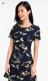[PL] Zalora Bird and Leave Print Dress
