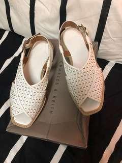 Charles and Keith white sandle