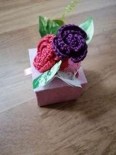 Handmade floral gift box