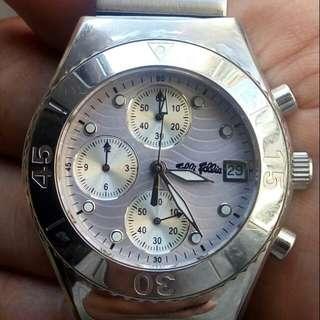 Folli Follia 時裝名牌潛水計時石英鋼錶