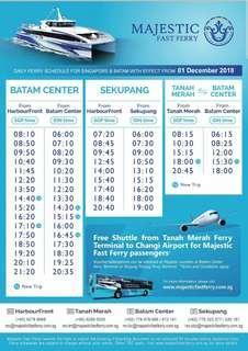 Batam ferry ticket Majestic ferry
