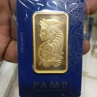 PAMP Suisse 999.9 Purity 24k GOLD BAR 50g -S$2850