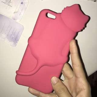 pink cat iphone 6 phone cover