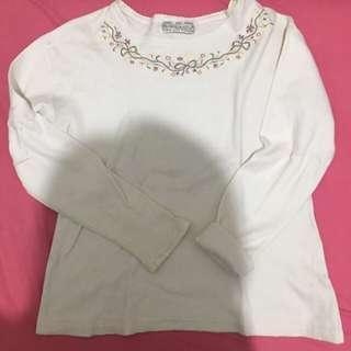 White top half sweater