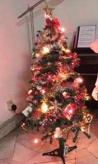 Christmas Tree 115cm with ornaments, star and lights