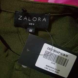 Mandarin collar Ls Shirt Zalora