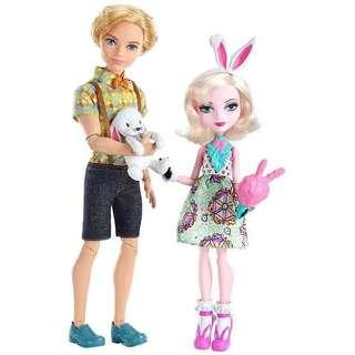 Ever After High Alistair Wonderland and Bunny blanc